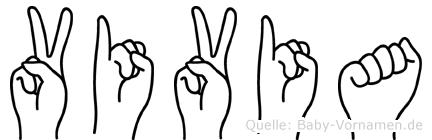 Vivia in Fingersprache für Gehörlose