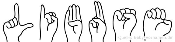Libuse in Fingersprache für Gehörlose
