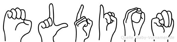 Eldion in Fingersprache für Gehörlose