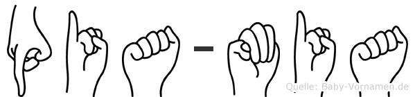 Pia-Mia im Fingeralphabet der Deutschen Gebärdensprache