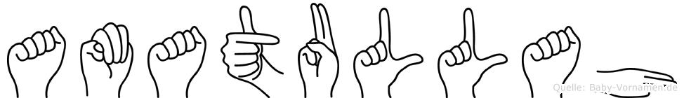 Amatullah im Fingeralphabet der Deutschen Gebärdensprache