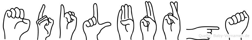 Edilburga im Fingeralphabet der Deutschen Gebärdensprache