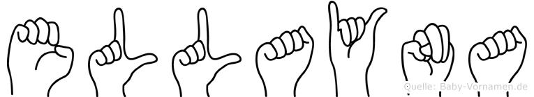 Ellayna im Fingeralphabet der Deutschen Gebärdensprache