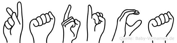Kadica im Fingeralphabet der Deutschen Gebärdensprache