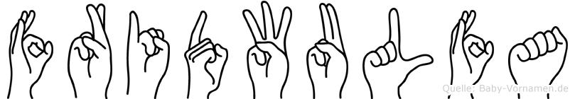 Fridwulfa im Fingeralphabet der Deutschen Gebärdensprache