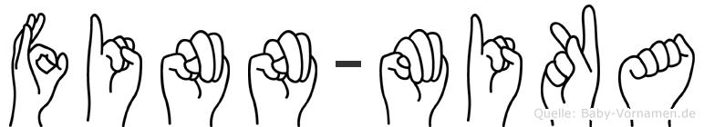 Finn-Mika im Fingeralphabet der Deutschen Gebärdensprache