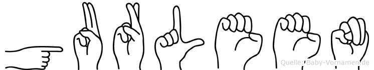 Gurleen im Fingeralphabet der Deutschen Gebärdensprache