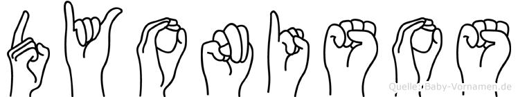 Dyonisos in Fingersprache für Gehörlose