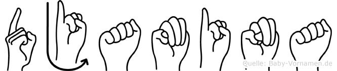 Djamina in Fingersprache für Gehörlose