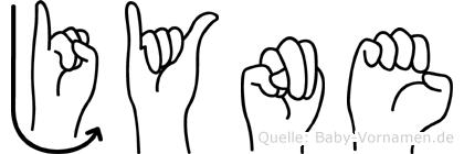 Jyne im Fingeralphabet der Deutschen Gebärdensprache