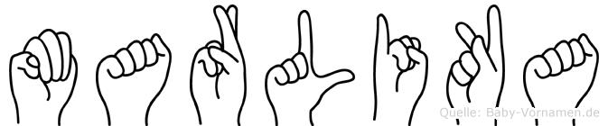 Marlika in Fingersprache für Gehörlose