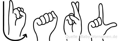 Jarl im Fingeralphabet der Deutschen Gebärdensprache