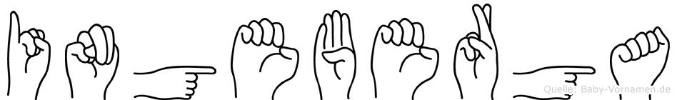 Ingeberga in Fingersprache für Gehörlose