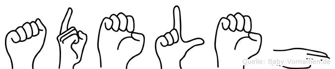 Adeleh in Fingersprache für Gehörlose