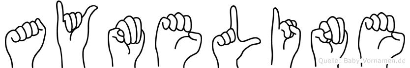 Aymeline in Fingersprache für Gehörlose