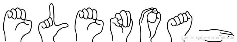 Elenoah im Fingeralphabet der Deutschen Gebärdensprache