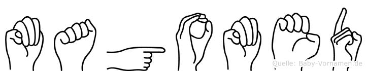 Magomed in Fingersprache für Gehörlose