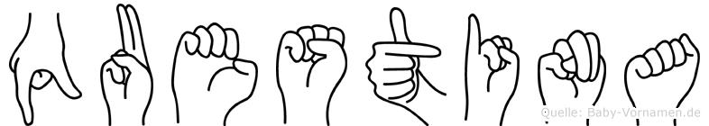 Questina in Fingersprache für Gehörlose