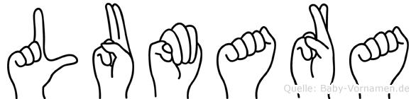 Lumara in Fingersprache für Gehörlose