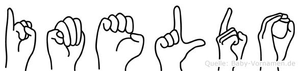 Imeldo in Fingersprache für Gehörlose
