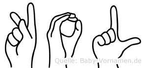 Kol in Fingersprache für Gehörlose