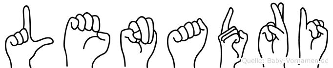Lenadri im Fingeralphabet der Deutschen Gebärdensprache