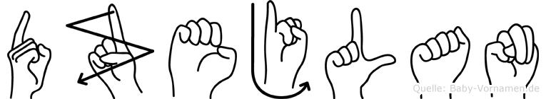 Dzejlan in Fingersprache für Gehörlose