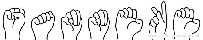 Sanneke im Fingeralphabet der Deutschen Gebärdensprache