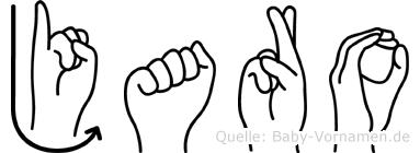 Jaro in Fingersprache für Gehörlose