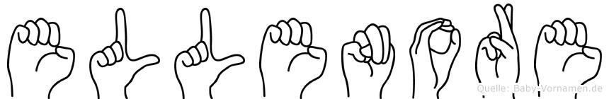 Ellenore im Fingeralphabet der Deutschen Gebärdensprache