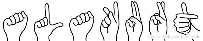 Alakurt im Fingeralphabet der Deutschen Gebärdensprache