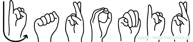 Jaromir im Fingeralphabet der Deutschen Gebärdensprache