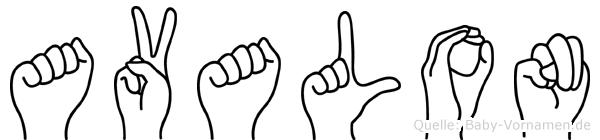 Avalon in Fingersprache für Gehörlose