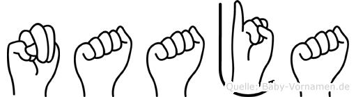 Naaja in Fingersprache für Gehörlose