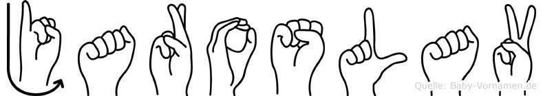 Jaroslav in Fingersprache für Gehörlose