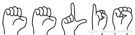 Eelis im Fingeralphabet der Deutschen Gebärdensprache