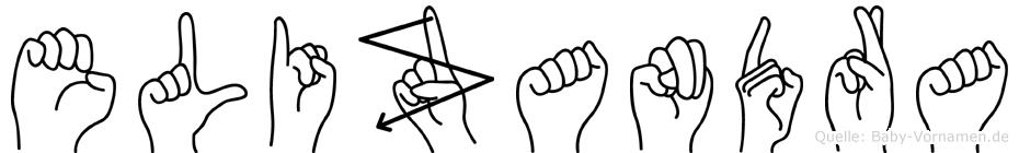 Elizandra im Fingeralphabet der Deutschen Gebärdensprache