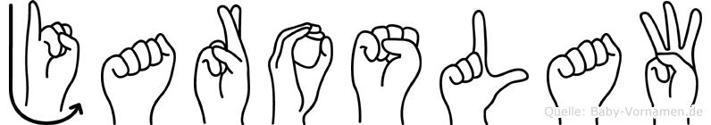 Jaroslaw im Fingeralphabet der Deutschen Gebärdensprache