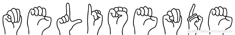 Melisende im Fingeralphabet der Deutschen Gebärdensprache
