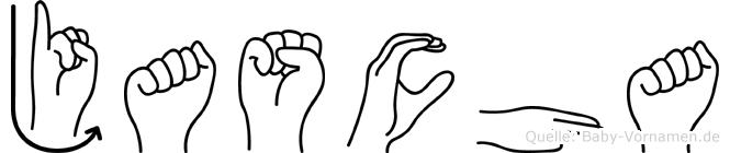 Jascha im Fingeralphabet der Deutschen Gebärdensprache