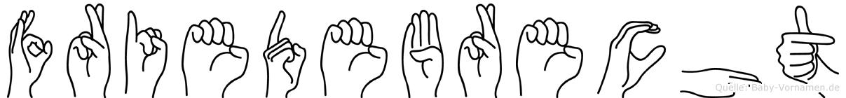 Friedebrecht in Fingersprache für Gehörlose