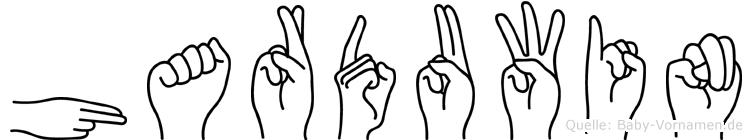 Harduwin im Fingeralphabet der Deutschen Gebärdensprache