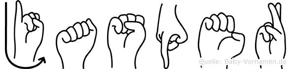 Jasper in Fingersprache für Gehörlose