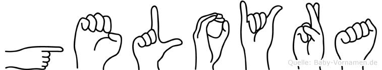 Geloyra im Fingeralphabet der Deutschen Gebärdensprache