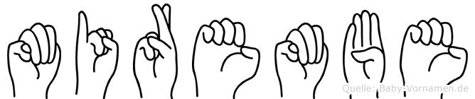 Mirembe im Fingeralphabet der Deutschen Gebärdensprache