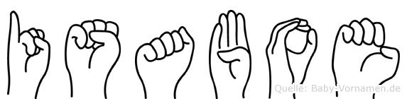 Isaboe in Fingersprache für Gehörlose