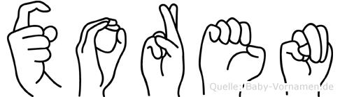Xoren in Fingersprache für Gehörlose
