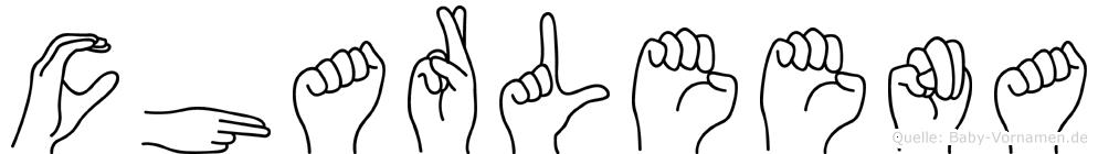 Charleena im Fingeralphabet der Deutschen Gebärdensprache