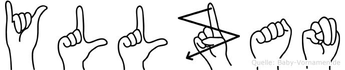 Yllzan in Fingersprache für Gehörlose