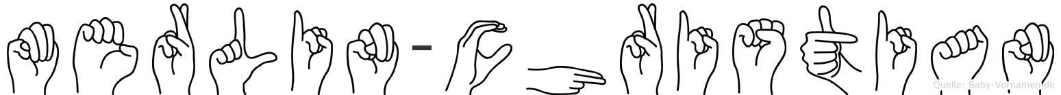 Merlin-Christian im Fingeralphabet der Deutschen Gebärdensprache